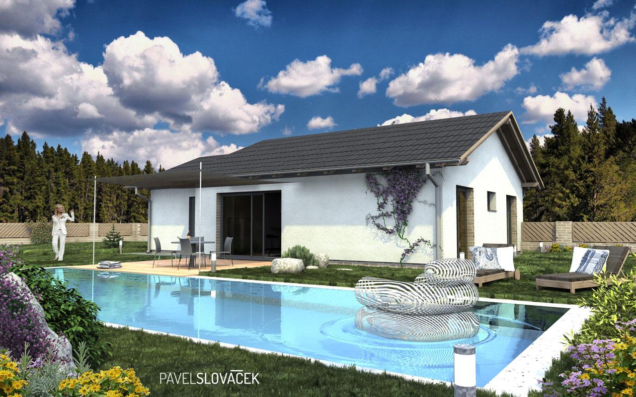 Nová 3D vizualizace rodinné domu ve Vnorovech